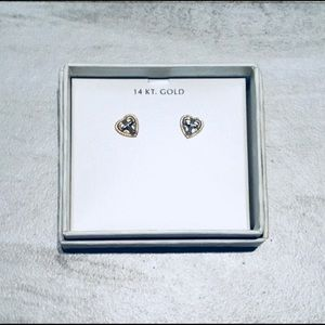 14 KARAT GOLD! Gorgeous and Delicate Earrings! NWT